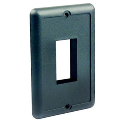 Picture of JR Products  Black Multi Purpose Switch Faceplate 14045 19-0029