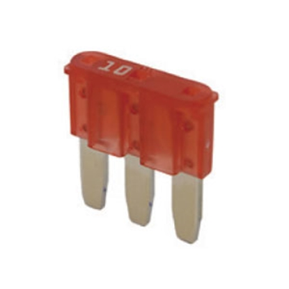 Picture of Bussman  5-Pack 10A 3-Leg Micro ATL Red Blade Fuse ATL-10 19-0074