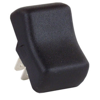 Picture of JR Products  Black 125-250V/ 16A SPST Single Rocker Switch 12255 19-0161