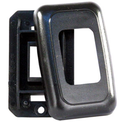 Picture of JR Products  Black Single Opening Multi Purpose Switch Faceplate w/Base 12305 19-0166