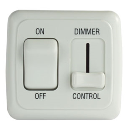 Picture of JR Products  White 15A/ 12V Dimmer Switch 12065 19-0178