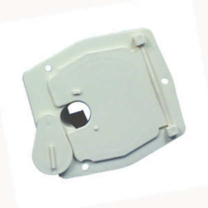 "Picture of JR Products  Colonial White 2-27/32""RO Square Cable Hatch Access Door S-27-14-A 19-0195"