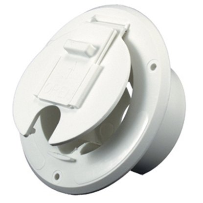 "Picture of JR Products  Polar White 2-27/32""RO Round Electrical Hatch Access Door S-23-10-A 19-0204"