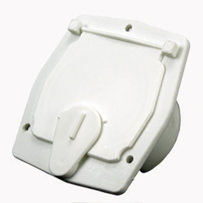 "Picture of JR Products  Polar White 2-27/32""RO Square Cable Hatch Access Door S-27-10-A 19-0212"