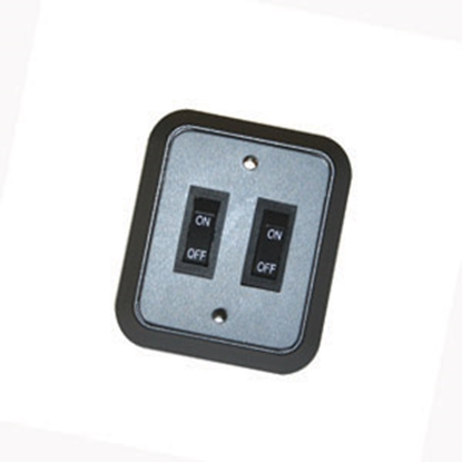 Picture of JRV Products  Double Rocker Switch W/Bezel A8977RBL 19-0218