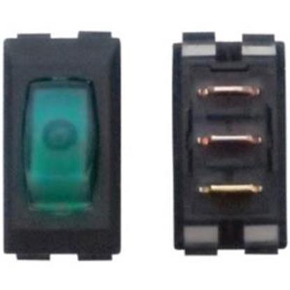 Picture of Diamond Group  1-Piece Black w/White Light SPST Rocker Switch A1-35C 19-0363