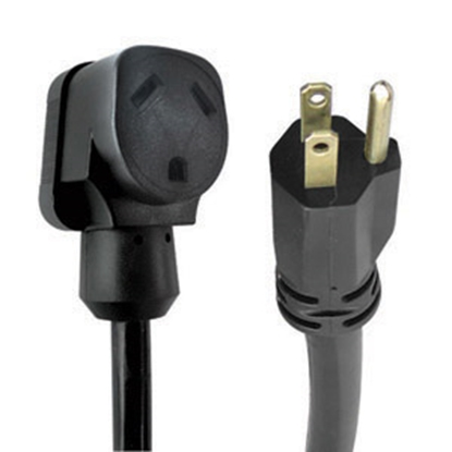 "Picture of Voltec Traditional Series 12"" 30A/15A Power Cord Adapter 16-00552 19-0381"