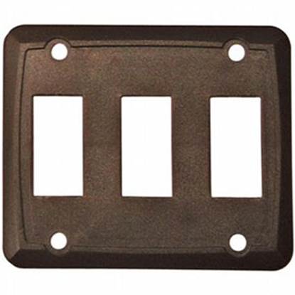 Picture of Diamond Group  3-Pack Brown Triple Opening Switch Plate Cover P7318 19-0411