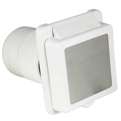 Picture of Marinco  White 125/250V 50A Outdoor/ Indoor Single Receptacle 6353ELRV 19-0433