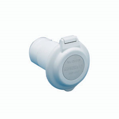 Picture of Marinco  White 125/250V 50A Outdoor/Indoor Single Receptacle 6344EL-BRV 19-0434