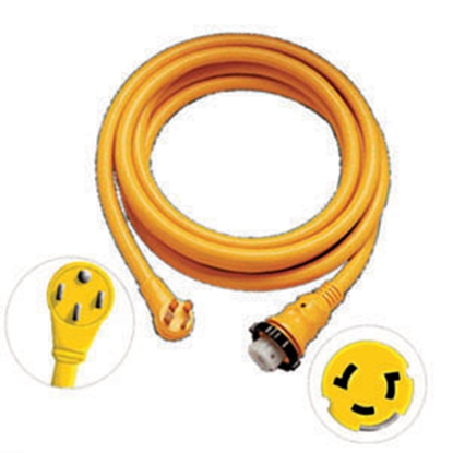 Picture of Marinco Power+Plus 25' 50A Locking Extension Cord 6152SPPRV-25 19-0438