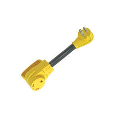 Picture of Camco Power Grip (TM) 15M/30F Dogbone Power Cord Adapter 55165 19-0466
