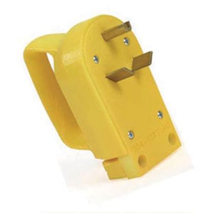Picture of Camco Power Grip (TM) Yellow 30A Male Power Cord Plug End w/ Handle 55242 19-0481