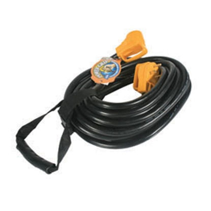 Picture of Camco Power Grip (TM) 50' 30A Extension Cord w/Plug Head Handle 55197 19-0518