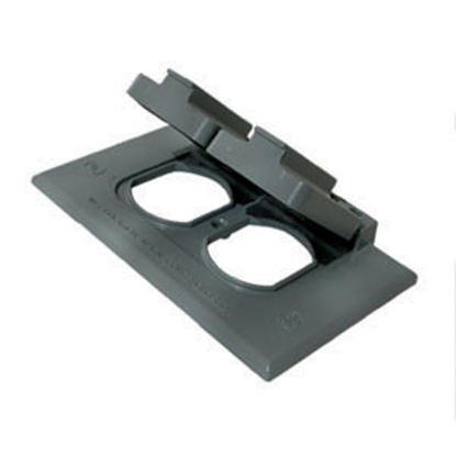 Picture of Diamond Group  Gray Weatherproof Receptacle Cover 3780SC 19-0570