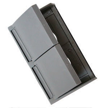 Picture of Diamond Group  Gray 125V Outdoor Dual Receptacle w/ Weatherproof Cover 3780SCREC 19-0571