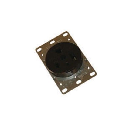Picture of Cooper Wire  Black 125V/ 50A Single Flush Mount Receptacle 1253-BOX 19-0611