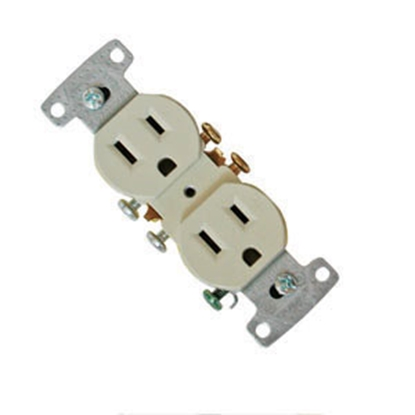 Picture of Diamond Group  Ivory 125V/ 15A Indoor/ Outdoor Dual Receptacle 270V-BOX 19-0619