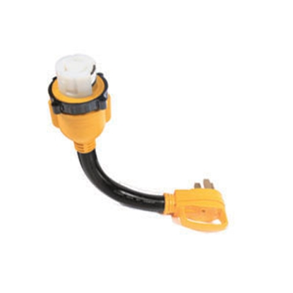 """Picture of Camco Power Grip (TM) 18"""" 50M/50F Locking Power Cord Adapter 55552 19-0628"""
