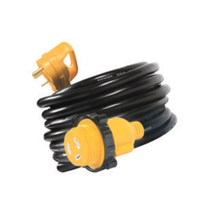 Picture of Camco Power Grip (TM) 25' 30M/30F Locking Power Cord Adapter 55501 19-0635