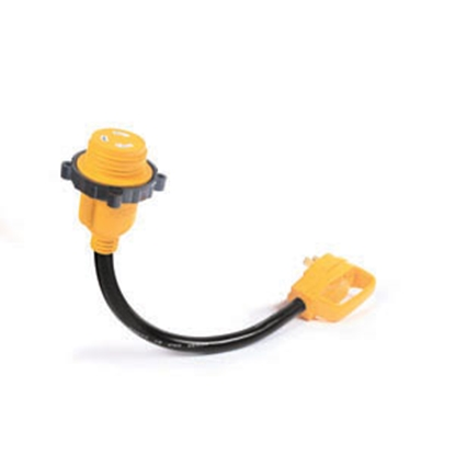"""Picture of Camco Power Grip (TM) 18"""" 30M/30F Locking Power Cord Adapter 55512 19-0636"""