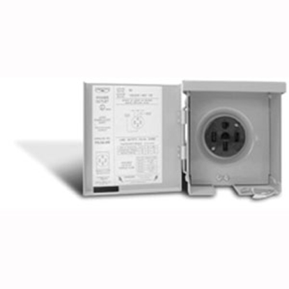 Picture of Parallax  120V/ 50A Outdoor/ Indoor Single NGFI Receptacle CESMPS54HR 19-0641