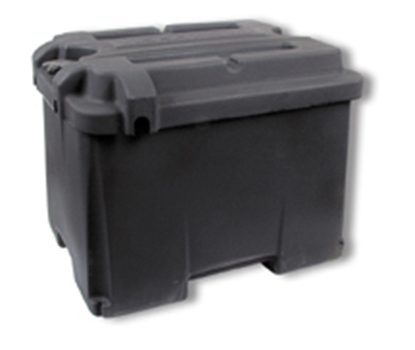 Picture of Noco  Black Dual 6V Group Vented Battery Box With Lid HM426 19-0738