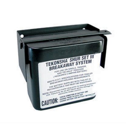 Picture of Tekonsha Shur Set lll (TM) Battery Case Black Trailer Breakaway Battery Box 20000 19-0749