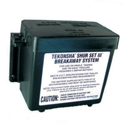 Picture of Tekonsha  Black Trailer Breakaway Lead Acid Battery Box 2051 19-0756