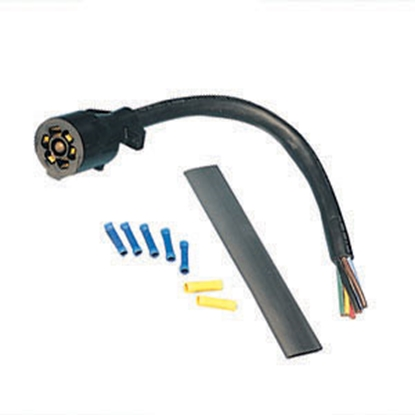 Picture of Bargman  7-Way Blade Trailer End Trailer Connector w/1' Wire Lead 54-67-525 19-0903