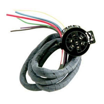Picture of Hopkins  6-Way Round Car End Trailer Connector w/4' Wire Lead 40985 19-0913