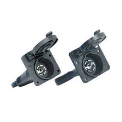 Picture of Bargman  7-Way Blade Car End Trailer Connector w/7' Wire Lead 50-87-007 19-0916