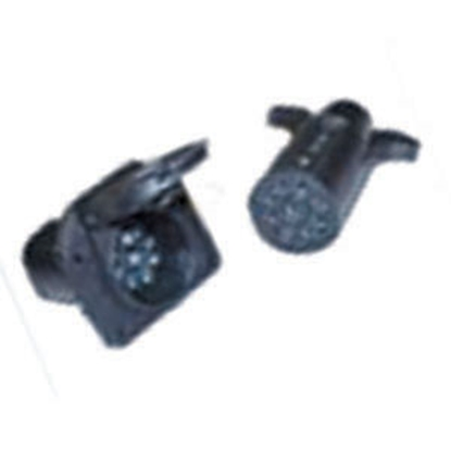 Picture of Pollak  9-Way Round Trailer End Trailer Connector 12-906 19-0936