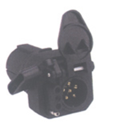 Picture of Hopkins Multi Tow (R) 7-Blade To 6 & 4 Center Pin Auxiliary Trailer Wiring Connector Adapter 47565 19-0970