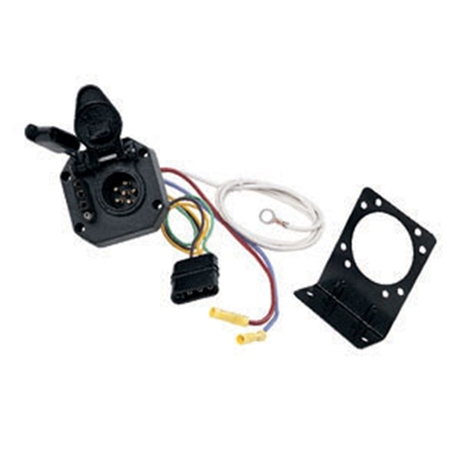 Picture of Hopkins Multi Tow (R) 4-Flat To 6-Round & 4-Flat Trailer Wiring Connector Adapter 47175 19-0983