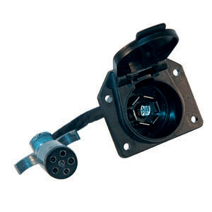 Picture of Hopkins Plug In Simple (TM) 6-Round To 7-Blade Trailer Wiring Connector Adapter w/Wire 47435 19-1148