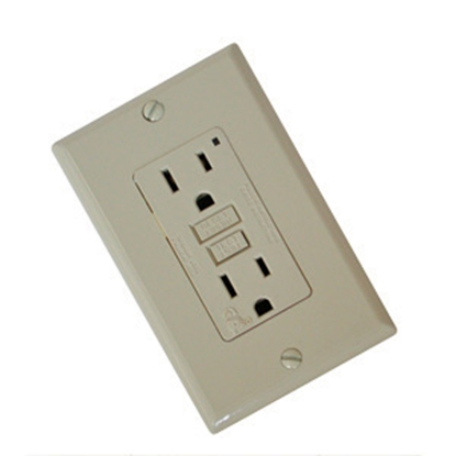Picture of Diamond Group  Ivory 120V/ 15A Indoor/ Outdoor GFI Receptacle VGF15V 19-1347