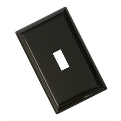 Picture of Diamond Group  Brown Single Speed Toggle Opening Switch Plate Cover 52491 19-1360