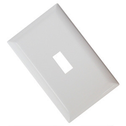 Picture of Diamond Group  White Single Speed Toggle Opening Switch Plate Cover 52492 19-1361