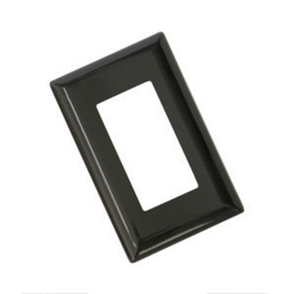 Picture of Diamond Group  Brown Single Speed Decor Opening Switch Plate Cover 52493 19-1363