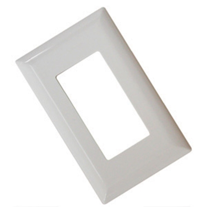 Picture of Diamond Group  White Single Speed Decor Opening Switch Plate Cover 52494 19-1364
