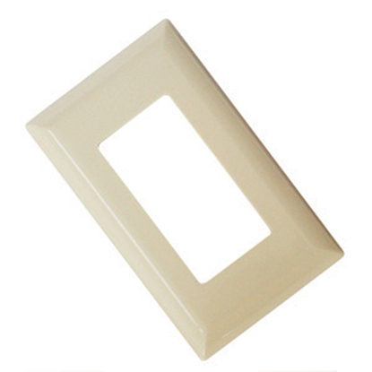 Picture of Diamond Group  Ivory Single Speed Decor Opening Switch Plate Cover 52495 19-1365