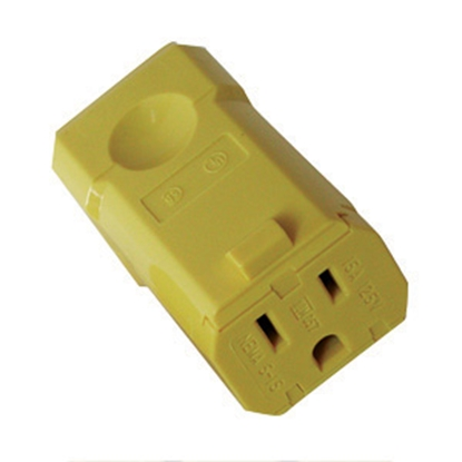 Picture of Diamond Group  Female Yellow 3-Wire Quick Connect 52497 19-1368