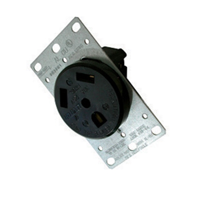 Picture of Diamond Group  Black 125V/ 30A Indoor/ Outdoor Single Receptacle 3830 19-1388