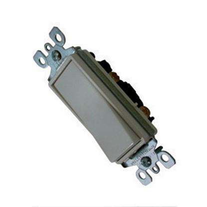Picture of Diamond Group  White 120-277V/ 15A Single Pole Rocker Switch SSCS-10 19-1389