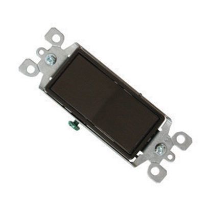 Picture of Diamond Group  Brown 120-277V/ 15A Single Pole Rocker Switch SSCS-18 19-1390