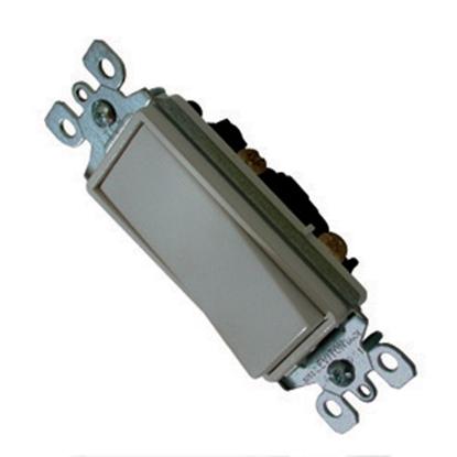 Picture of Diamond Group  Ivory 120-277V/ 15A Single Pole Rocker Switch SSCS-58 19-1391
