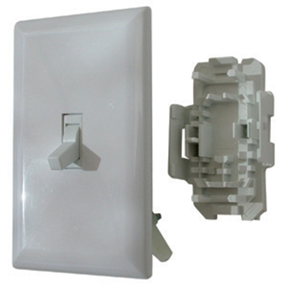 Picture of Diamond Group  White 125V/ 15 Amp 2 Pole Toggle Switch WDS151WT 19-1399