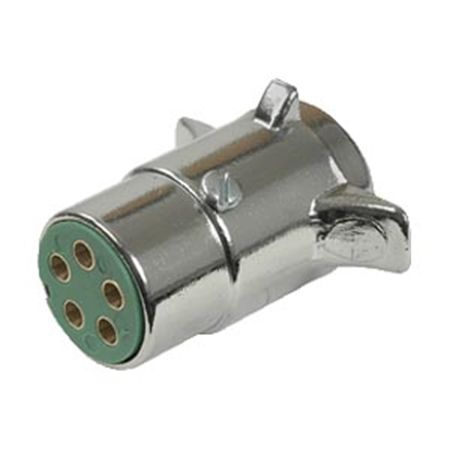 Picture of Pollak  5-Way Round Trailer End Trailer Connector 11-501 19-1428