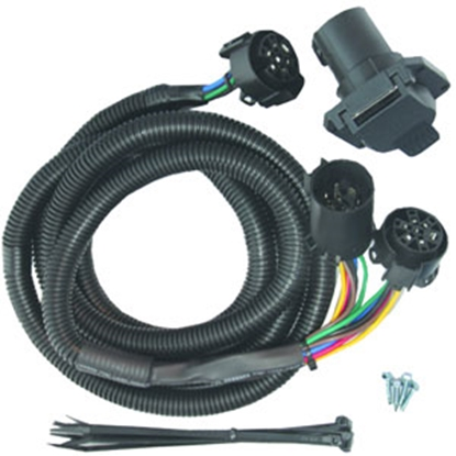 Picture of Mighty Cord  7-Way Vehicle End Trailer Connector w/7' Wire Lead A10-7007 19-1808
